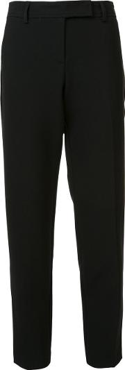 Slim Fit Cropped Tailored Trousers Women Cottonpolyesterspandexelastaneviscose 8, Women's, Black
