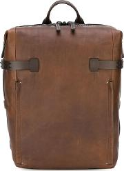 Rucksack Unisex Leather One Size, Brown