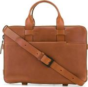 Structured Leather Briefcase