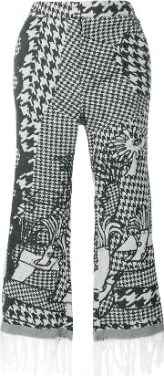 Fringed Cropped Trousers