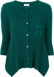Twin Set Cardigan With Lace Detail Pocket Women Cottonwoolmother Of Pearl Xl, Green