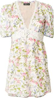 Twin Set Floral Flared Blouse