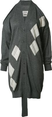 Cashmere Cut Off Midi Cardigan Women Cashmere M, Grey