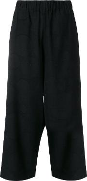 Cropped Loose Fit Trousers