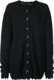 Uma Wang Destroyed Cardigan Women Polyamideviscosevirgin Wool M, Black