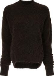 Uma Wang Round Neck Jumper Women Polyamidespandexelastanemohairalpaca M, Brown