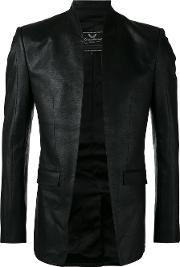 Cut Away Jacket Men Silkcotton S, Black