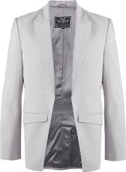 Cutatway Blazer Men Woolpolyestersilk M, Grey