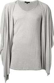 Hooded Draped T Shirt Men Rayon S, Nudeneutrals