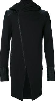 Unconditional Paneled Detail Hooded Jacket Men Cotton Xs, Black
