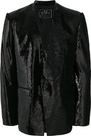 Unconditional Sequin Blazer Men Silkpolyester L, Black