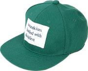 Printed Patch Cap Men Cotton One Size, Green