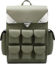 'voyager' Backpack Unisex Leather One Size, Green