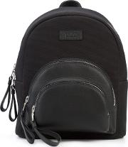 Micro Rockefeller Backpack Women Leathercanvas One Size, Black