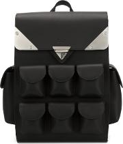 Mini 'voyager' Backpack Unisex Leathersuede One Size, Black