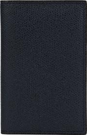 Business Cardholder Unisex Calf Leather One Size, Blue