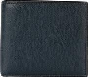 Foldover Wallet Men Calf Leather One Size, Blue