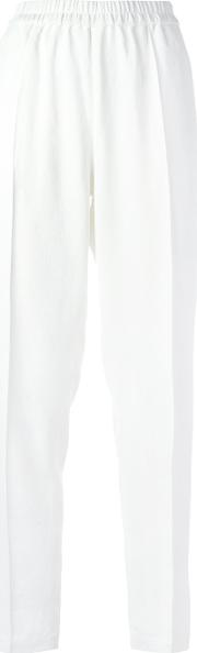 Straight Tailored Trousers Women Polyester 36, Women's, White