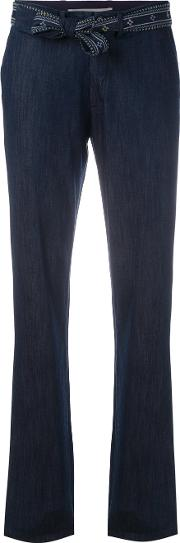 Straight Trousers Women Cottonpolyester 36, Women's, Blue