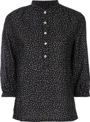 Vanessa Seward Speckled Button Up Blouse Women Silkcotton 42, Black