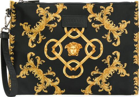 df6f32f16d4 Baroque Print Clutch Bag Men Polyamide One Size, Black. Follow versace  Follow farfetch