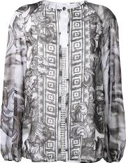 Baroque Print Loose Blouse Women Polyester 42