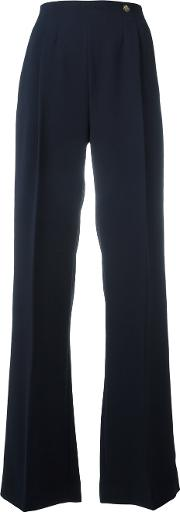 Flared Pants Women Polyesterviscose 46, Blue