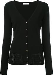 Pinhole Detailed Cardigan Women Polyesterviscose 42, Black