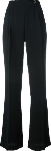 Tailored Trousers Women Polyester 40, Black