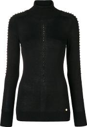 Turtle Neck Studded Sweater