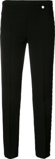 Versace Collection Mesh Insert Trousers Women Cottonpolyesterviscose 42, Black