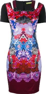 Printed Fitted Dress Women Cottonpolyesterspandexelastanepolyimide 42
