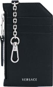Keychain Card Holder Women Calf Leather