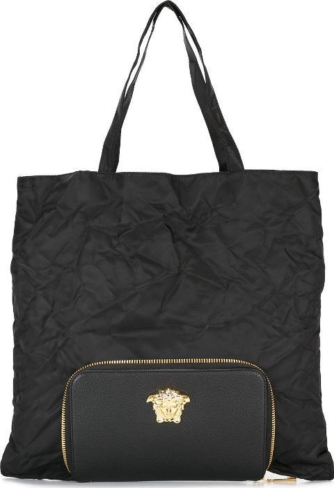 c3bbb009e6cf VERSACE. Palazzo Medusa Tote With Detachable Clutch Men Calf Leathernylon One  Size