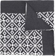 Patterned Intarsia Scarf