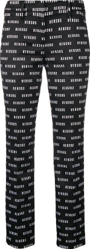 Logo Print Tailored Trousers