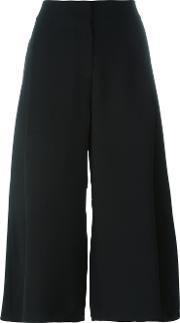 Crepe Culottes Women Polyester 10, Black
