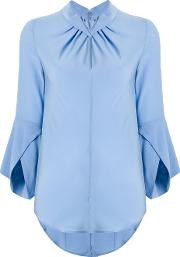 Flare Sleeve Knot Blouse