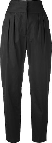 High Waisted Trousers Women Cottoncuproacetate 8, Black