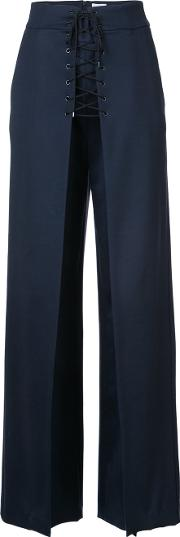 Lace Up High Rise Trousers