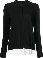 Vionnet Classic Knitted Sweater Women Polyestervirgin Wool 40, Black