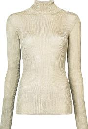 Vionnet Ribbed Roll Neck Jumper Women Polyesterrayon 40, Grey