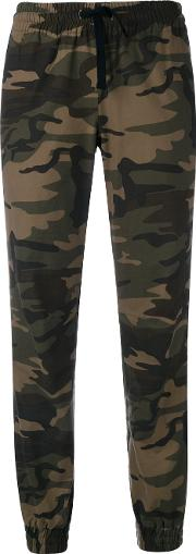 Camouflage Track Trousers Women Cotton Iii, Green