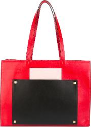 Bertha Shopping Tote Women Cottonleather One Size, Red