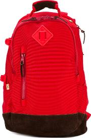 Contrast Panel Backpack Men Suedepolyamide One Size, Red