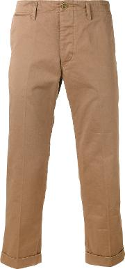 Cropped Chinos Men Cotton 4, Green