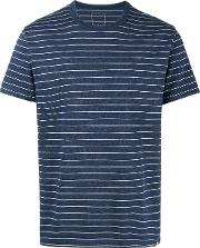 Mid Border Striped T Shirt Men Cotton 3, Blue