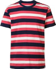 Striped T Shirt Men Cotton 2, Red