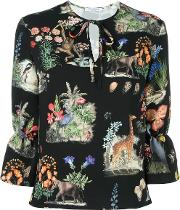 Printed Blouse Women Polyester 42