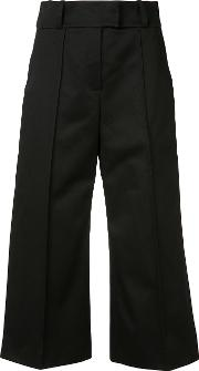 Josy Cropped Trousers Women Cotton 36, Black